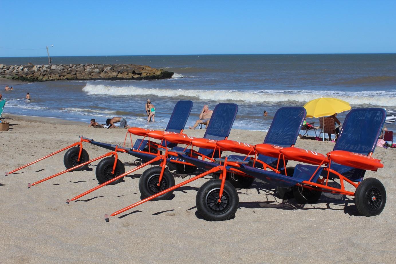 Resultado de imagen para sillas anfibias en mar del plata